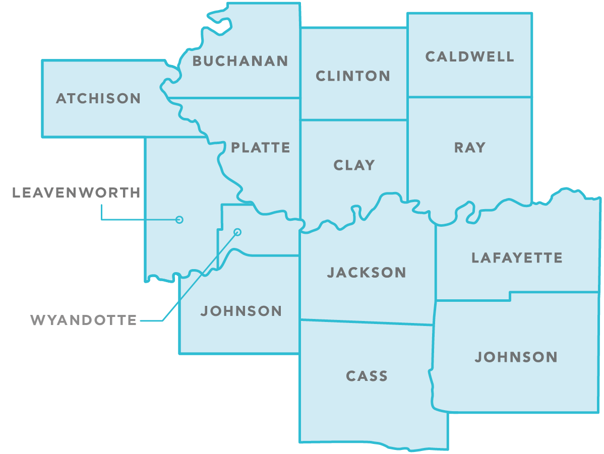 Counties served by Focus Health Care